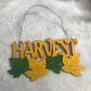 Other - Harvest Fall Wall Decor Sign Wooden Thanksgiving